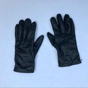 Vintage Coach Black Leather, 100% Cashmere Gloves
